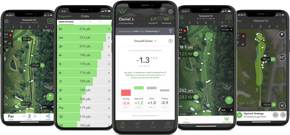 COBRA CONNECT Arccos Caddie Screenshots